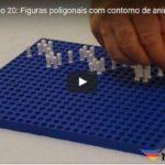 Figuras poligonais com contorno de animais